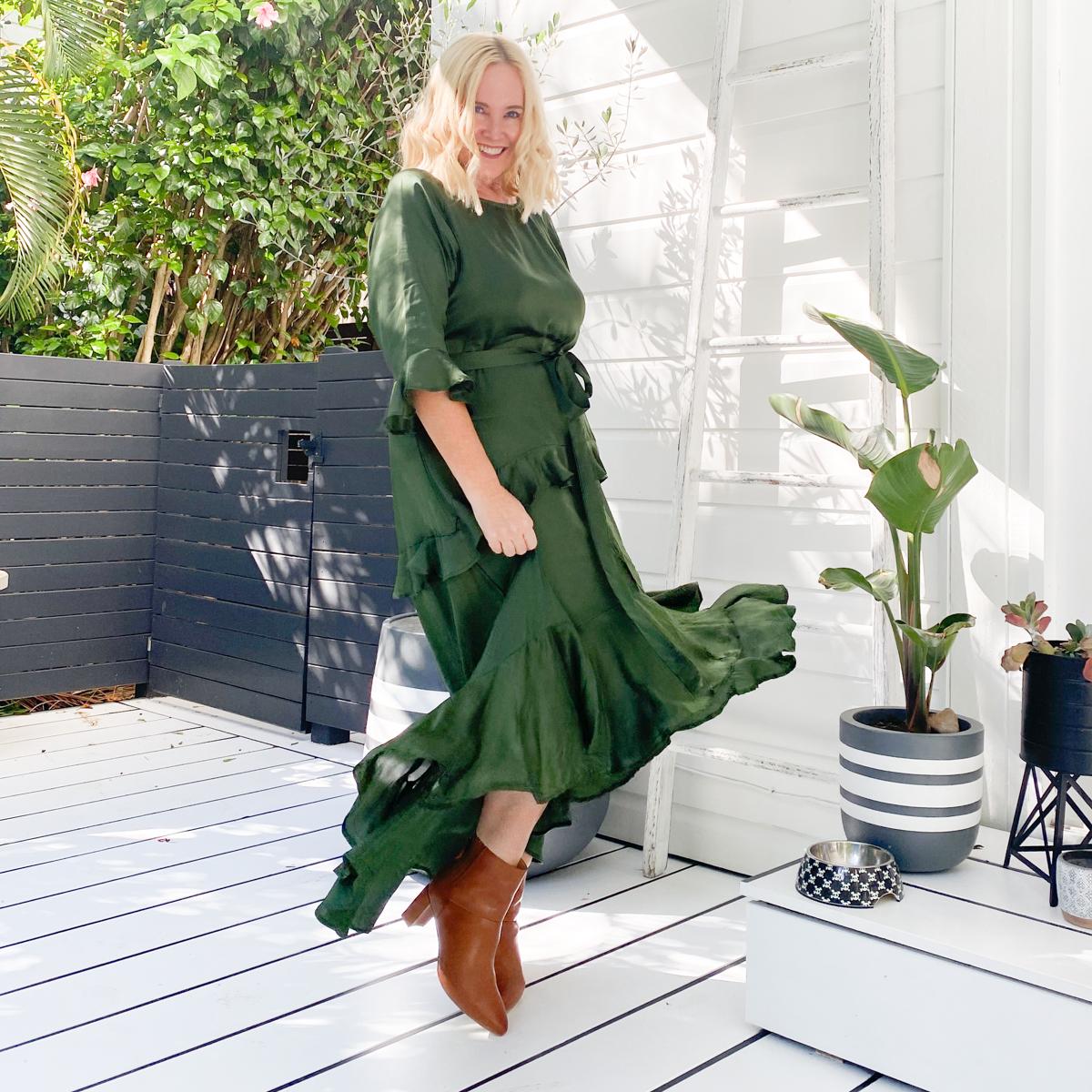 Anannasa Lisa dress - sage | FRANKiE4 Footwear Whitney boots